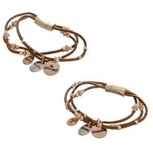 Jewelry - Boho Faux leather bracelets with charms (2)
